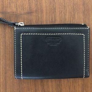 Coach Leather Black Mini-Wallet/Coin purse